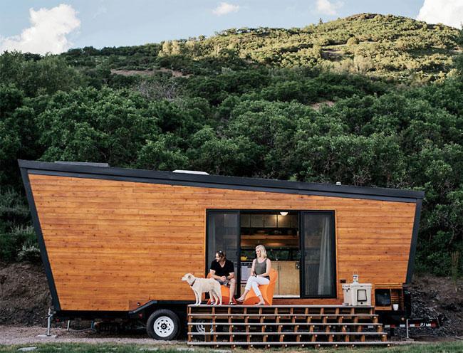 Una casa rodante hecha toda de madera que tu mismo podrías hacer Playas en el mundo